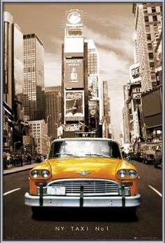 New York taxi no. 1 Uokvirjen plakat