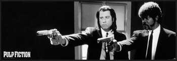 Pulp Fiction - b&w guns Uokvirjen plakat
