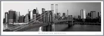 Manhattan - morning b&w Uokvirjen plakat