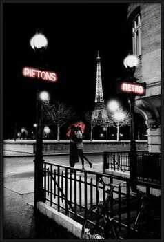Paríž metro Uokvirjen plakat