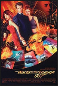 J. B. 007 - the world is not enough Uokvirjen plakat
