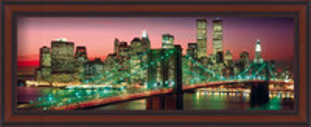 New York - manhattan colour Uokvirjen plakat