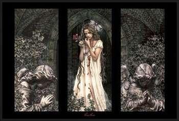 Victoria Frances - triptych Uokvirjen plakat
