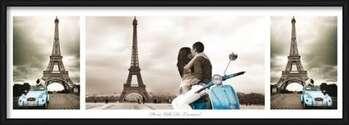 Paríž - triptych Uokvirjen plakat