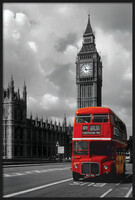 London red bus Uokvirjen plakat