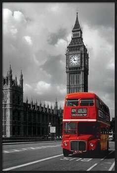 London red bus Uokvirjen plakat