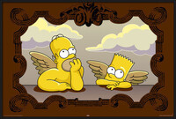 Simpsons - raphael Uokvirjen plakat