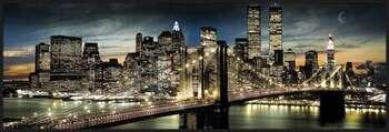 Manhattan - night and moon Uokvirjen plakat