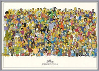 The Simpsons - cast Uokvirjen plakat