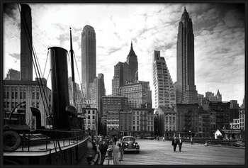 New York - city pier 1937 Uokvirjen plakat