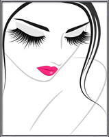 Lash extension beauty icon Uokvirjen plakat