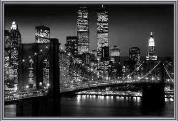 Manhattan - Night Uokvirjen plakat