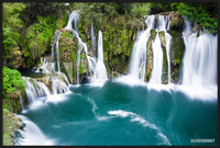 Waterfalls of Martin Brod on Una national park, Bosnia and Herzegovina Uokvirjen plakat