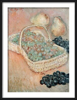 Claude Monet - The Basket of Grapes, 1884 Uokvirjen plakat