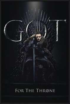 Game of Thrones - Jon For The Throne Uokvirjen plakat