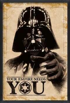 Uokvirjen plakat Star Wars - Your Empire Needs You