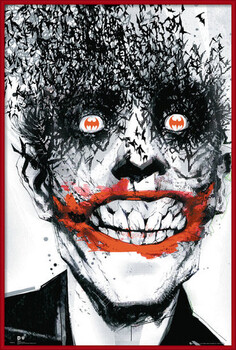 Uokvirjen plakat BATMAN Comic - Joker Bats