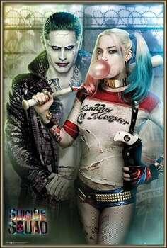 Uokvirjen plakat Suicide Squad - Joker and Harley Quinn