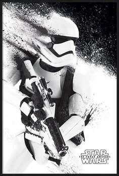 Uokvirjen plakat Star Wars Episode VII: The Force Awakens - Stormtrooper Paint
