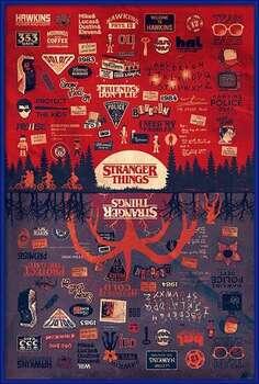 Uokvirjen plakat Stranger Things - The Upside Down