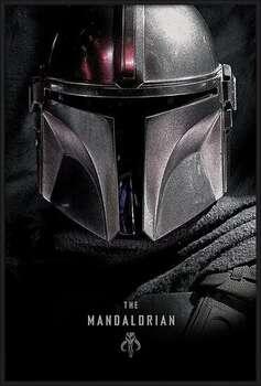 Uokvirjen plakat Star Wars: The Mandalorian - Dark