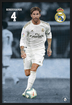 Uokvirjen plakat Real Madrid 2019/2020 - Sergio Ramos