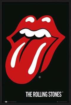 Uokvirjen plakat the Rolling Stones - Lips