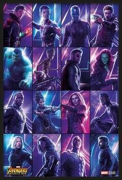 Uokvirjen plakat Avengers: Infinity War - Heroes