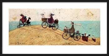 Uokvirjen plakat Sam Toft - Electric Bike Ride