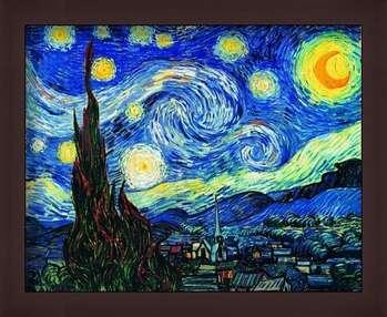 Uokvirjen plakat The Starry Night, June 1889