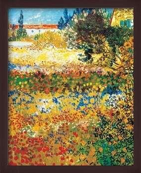 Uokvirjen plakat Flowering garden, 1898