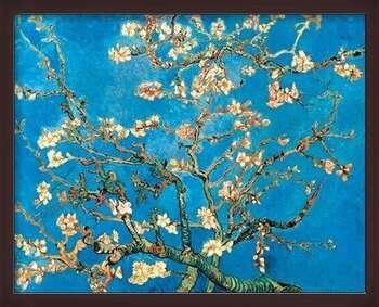 Uokvirjen plakat Almond Blossom - The Blossoming Almond Tree, 1890