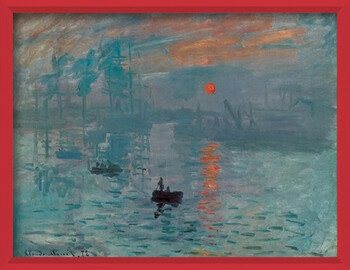 Uokvirjen plakat Impression, Sunrise - Impression, soleil levant, 1872