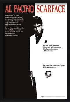 Uokvirjen plakat Scarface - movie