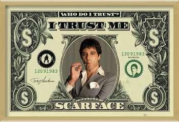 Uokvirjen plakat SCARFACE - dollar