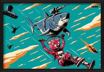 Uokvirjen plakat Fortnite - Laser Shark