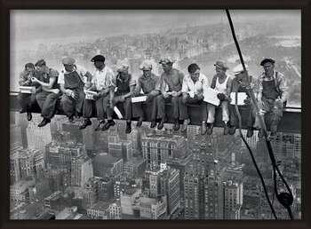 Uokvirjen plakat Lunch on a skyscraper