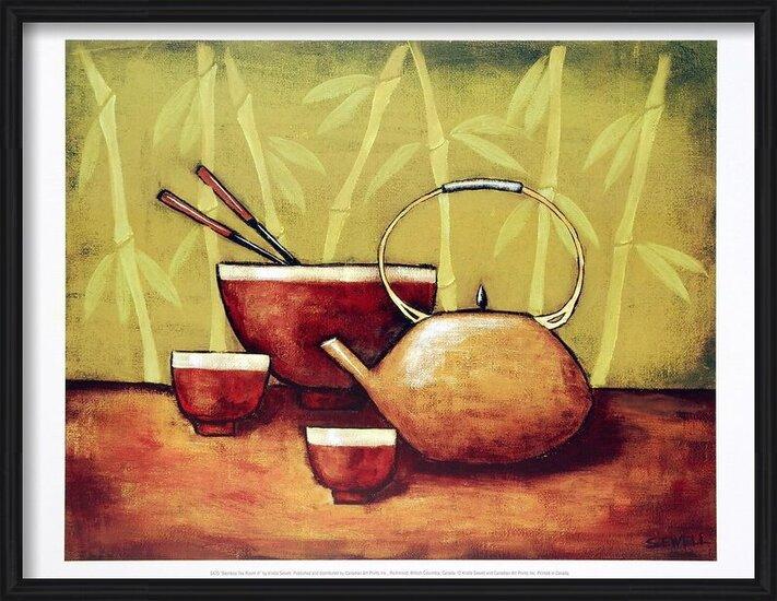Bamboo Tea Room II Tisk