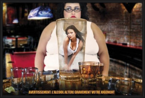 Alcohol warning - france Poster