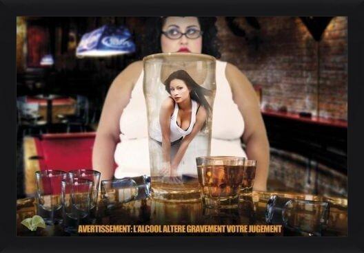 Alcohol warning - france Poster