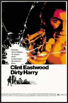 DRSNÝ HARRY - clint eastwood Poster