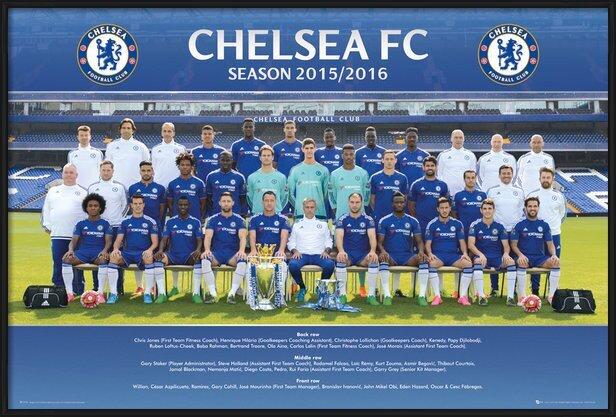 Chelsea FC - Team Photo 15/16 Poster