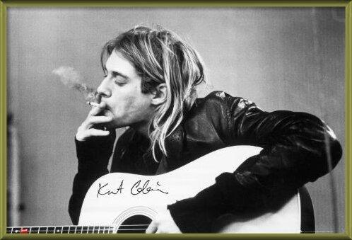 Kurt Cobain - smoking Poster