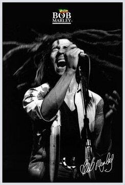 Bob Marley - shout b&w Poster